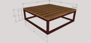 brickmaker's table dimensions