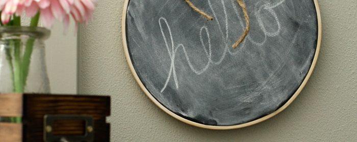 Chalkboard Embroidery Hoop