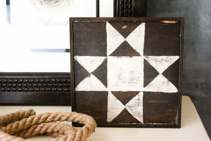 DIY Mini Barn Quilt Art