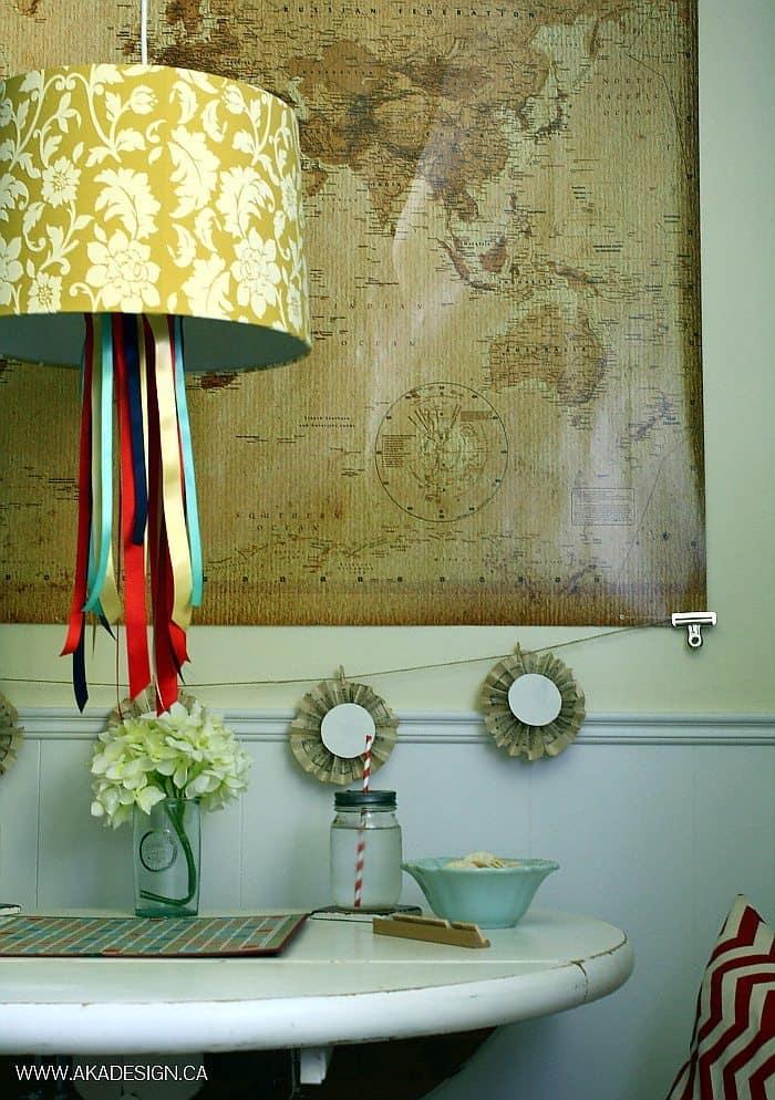 diy ribbon chandelier