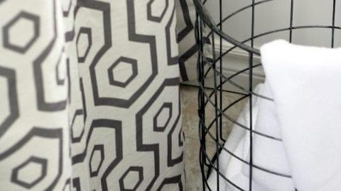 Decor Hack – Curtains as a Shower Curtain