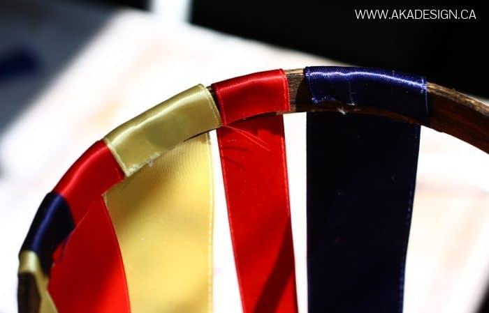 glue ribbon to hoop