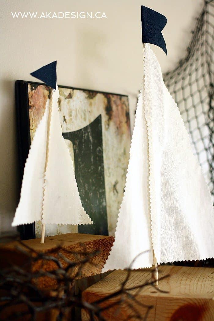 rustic sailboat diy decor | www.akadesign.ca
