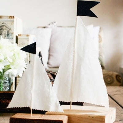 Quick and Cheap DIY Scrap Wood Sailboats