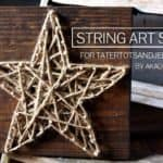 string art star for tatertots and jello by aka design
