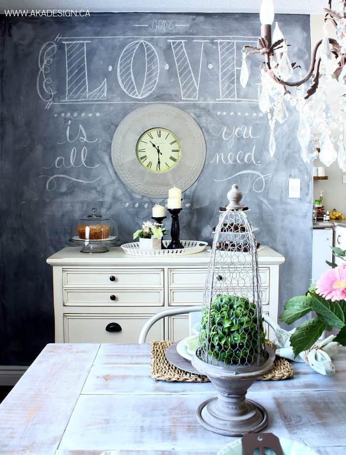 DINING ROOM CHALKBOARD WALL | WWW.AKADESIGN.CA