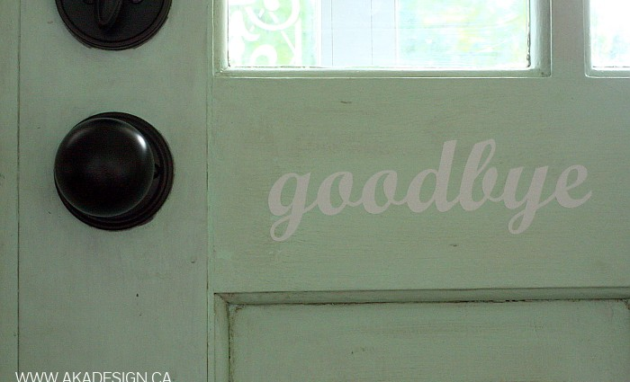 Goodbye Vinyl Door Decal
