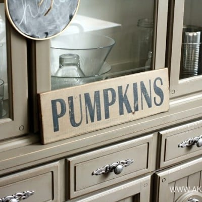 Pumpkins Wood Sign | Silhouette Stencil