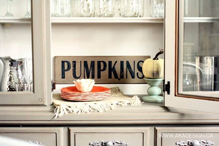 PUMPKINS WOOD SIGN | WWW.AKADESIGN.CA