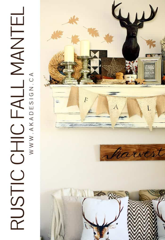 RUSTIC CHIC FALL MANTEL