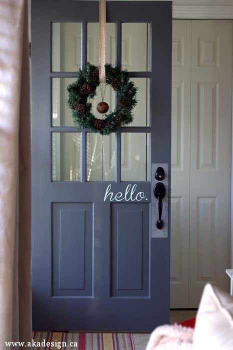 hello vinyl door decal | www.akadesign.ca