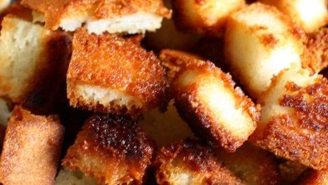 Halfway Homemade Croutons