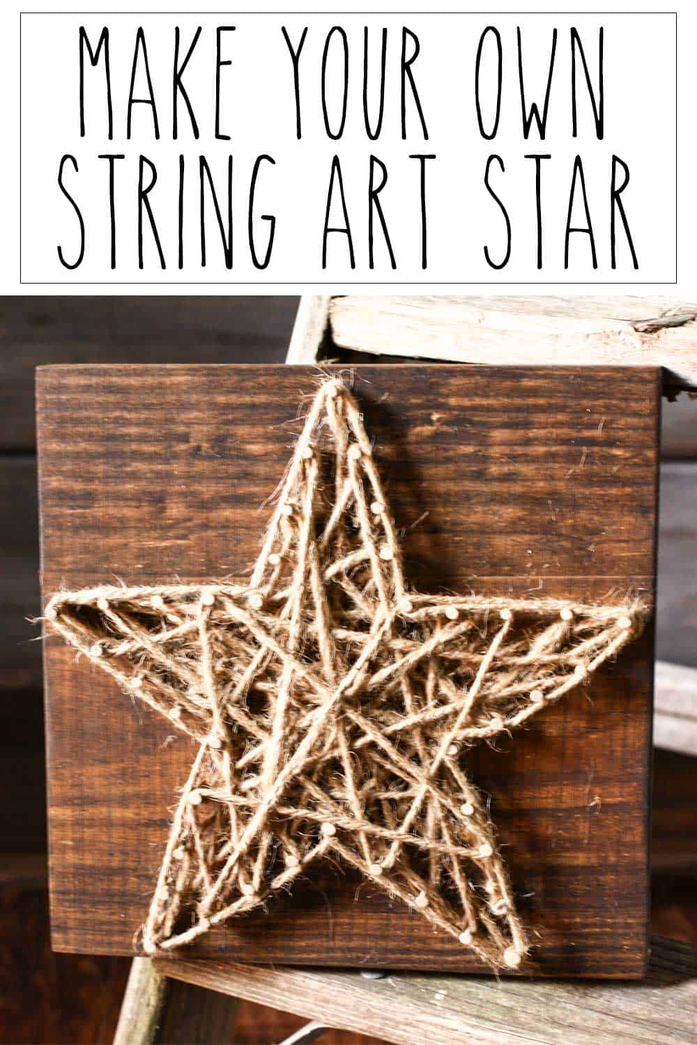 diy string art star. Black Bedroom Furniture Sets. Home Design Ideas