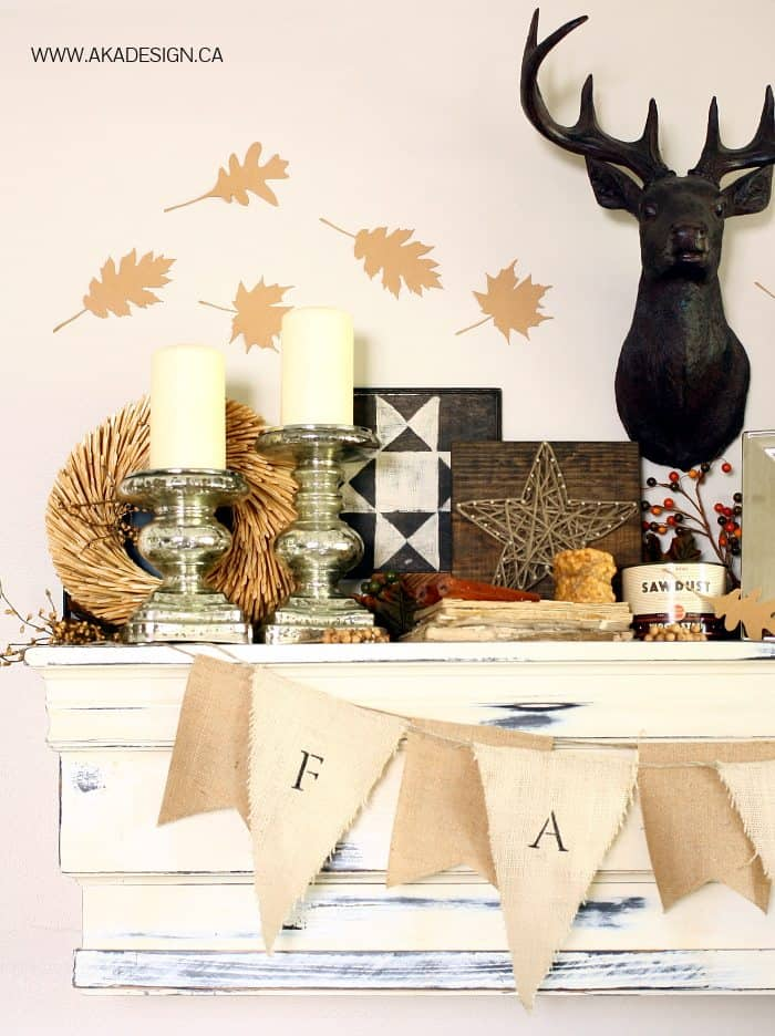 oliver the deer fall mantel