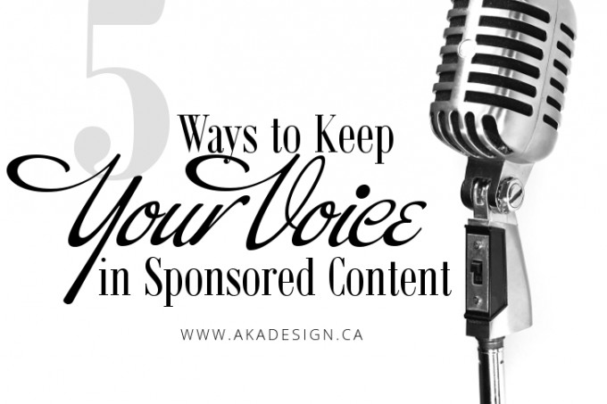 5 ways to keep your voice in sponsored content