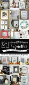 21 Autumn and Halloween Vignettes with Free Printables | www.akadesign.ca