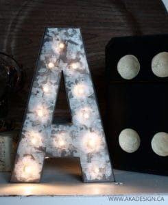 MARQUE LETTERS DIY