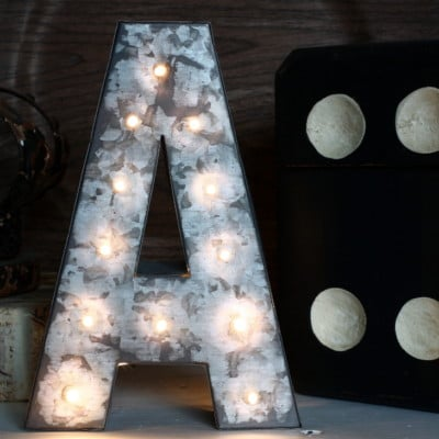 Mini Marquee Letter DIY Hack