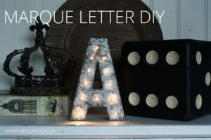 MARQUEE LETTER DIY