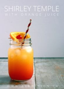 SHIRLEY TEMPLE WITH ORANGE JUICE