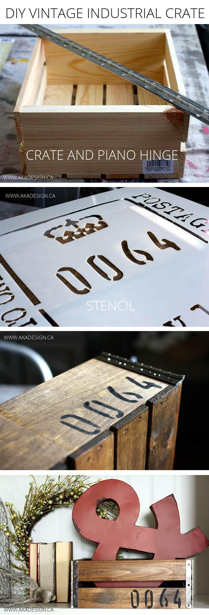 diy vintage industrial crate aka design