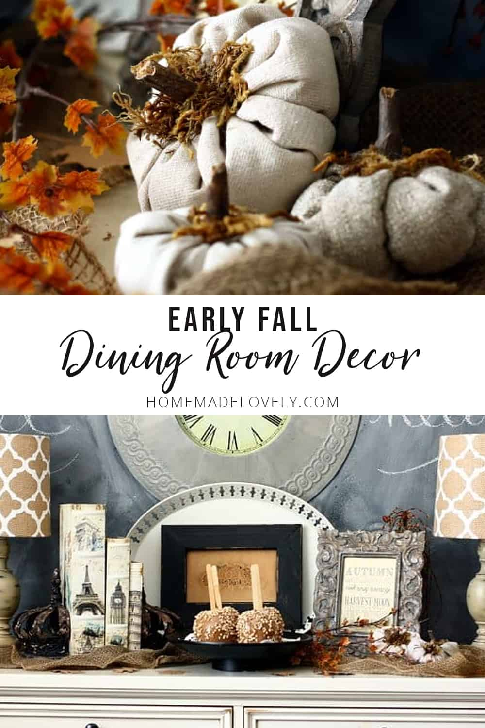 early fall dining room decor