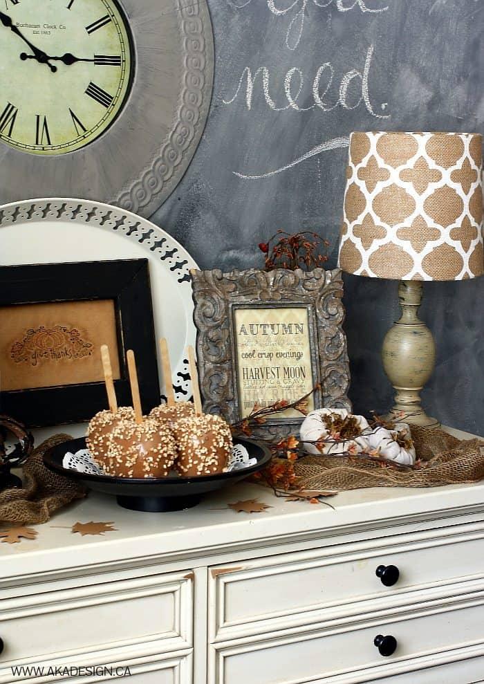fall buffet decor | www.akadesign.ca