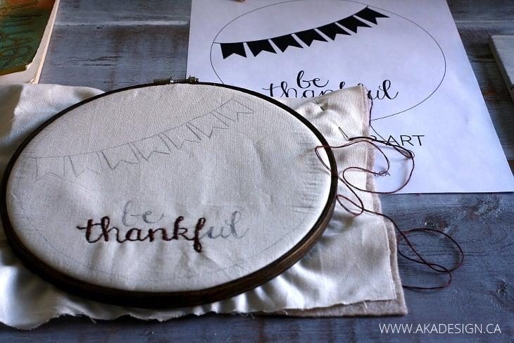 hoop art stitching