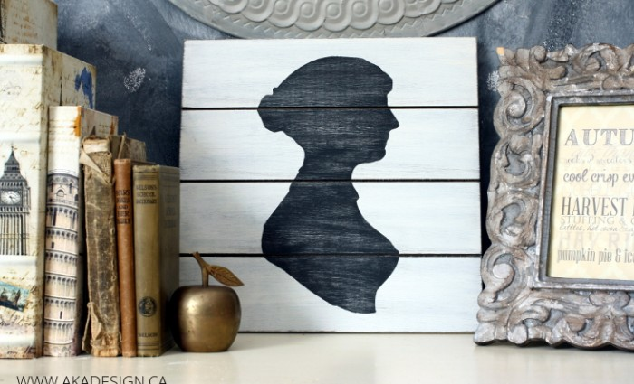 Jane Austen Silhouette Art | Using Card Stock as a Stencil