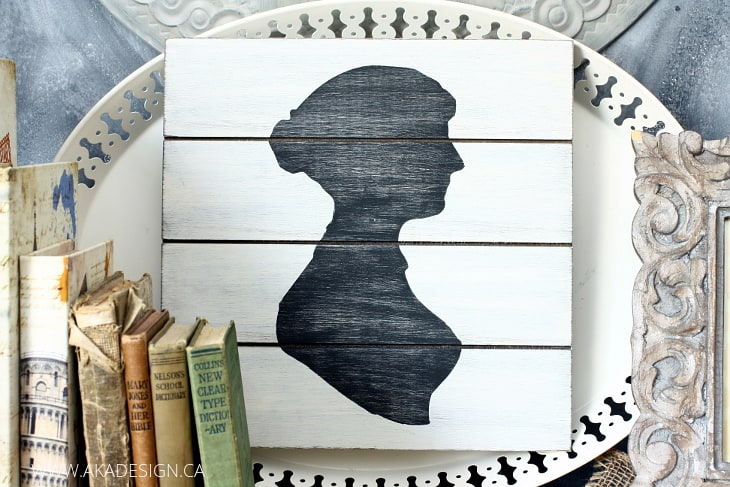 rustic silhouette plank art
