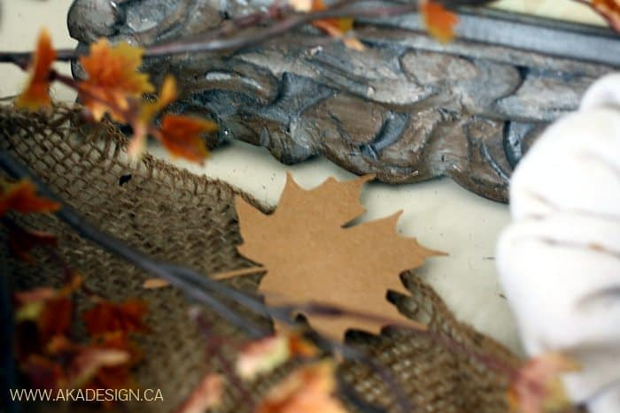 silhouette kraft paper fall leaves