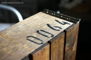 stenciled crate