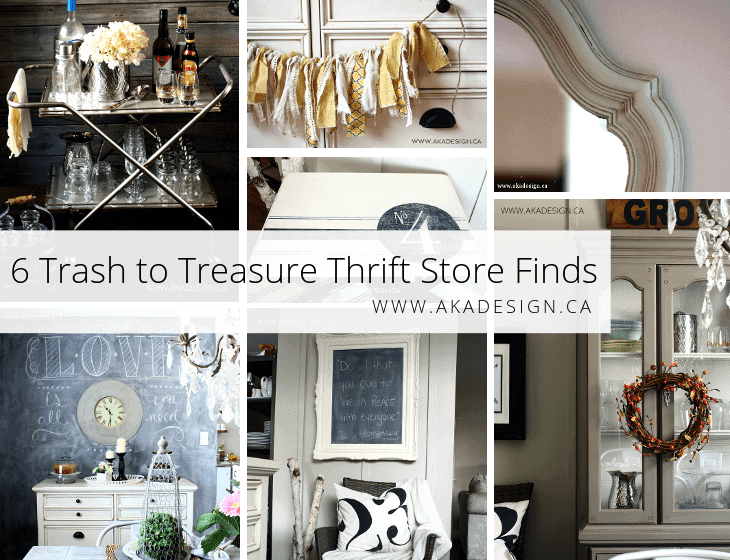 6 trash to treasure thrift store finds