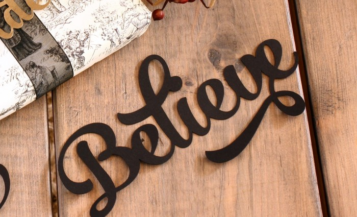 Believe Silhouette Cut Out – Black – Set of 5