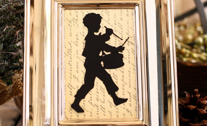 Little Drummer Boy Silhouette Cut Out – Black – Set of 5