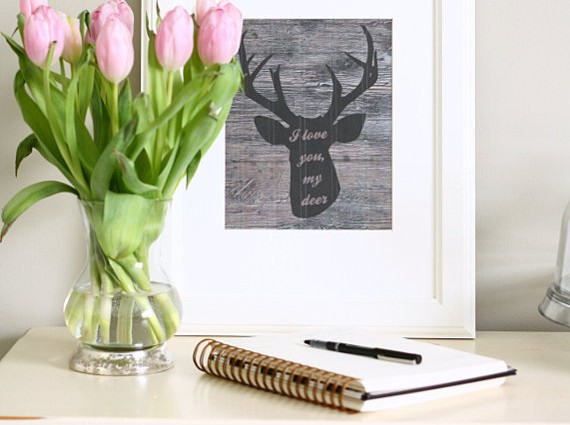 I Love You My Deer 8″x10″ Art Print