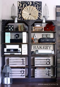 Industrial Shelves Crates Printers Office