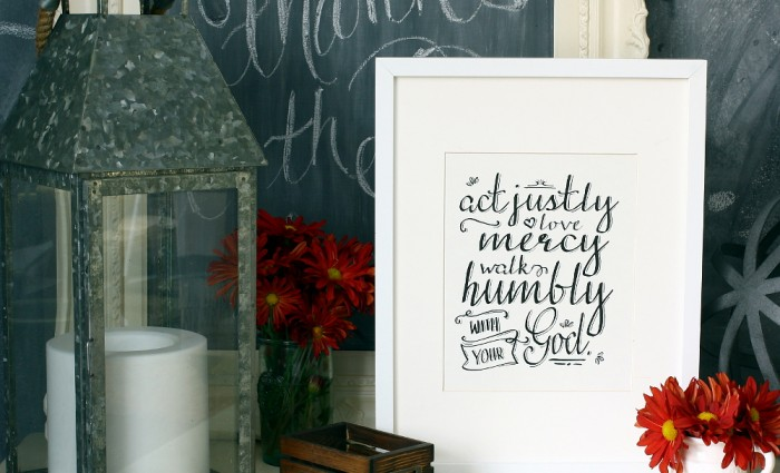 Act Justly Love Mercy 8″x10″ Art Print