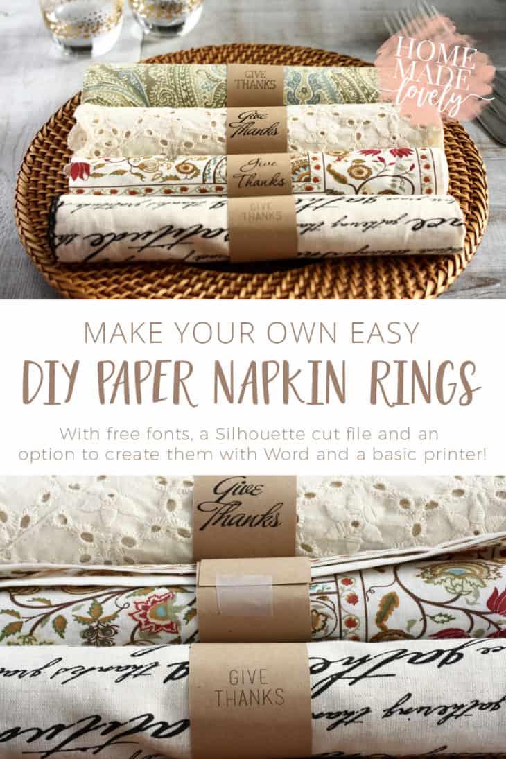 diy paper napkin rings pin