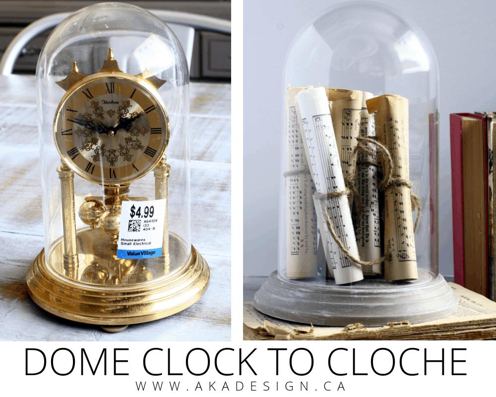 dome clock to cloche