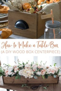 How to Make a Wood table Box | A DIY Wood Box Centerpiece