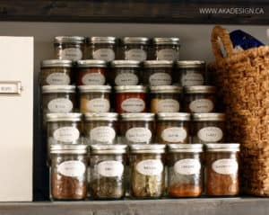 keep spices in canning jars