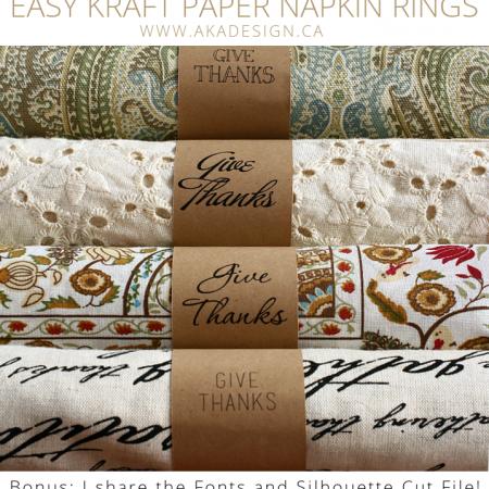kraft paper napkin rings | www.akadesign.ca