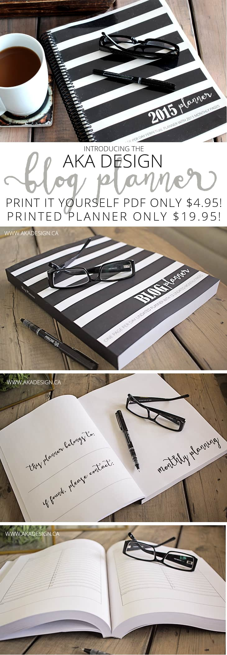 Aka design blog pdf and printed planner for Planner decorating blogs