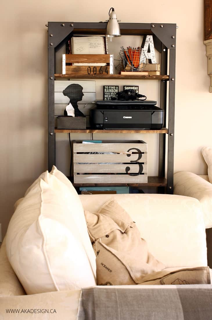 AKA DESIGN LIVING ROOM INDUSTRIAL SHELVES