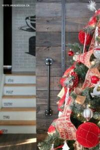 CHRISTMAS TREE BARN DOOR