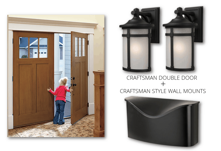 CRAFTSMAN DOUBLE DOOR CRAFTSMAN LIGHTS