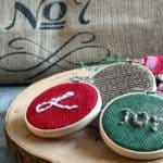 Easy Burlap Christmas Ornaments
