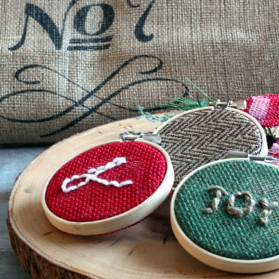 Easy Burlap Christmas Ornaments to Make on a Snowy Afternoon