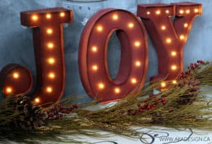 JOY MARQUEE LETTERS